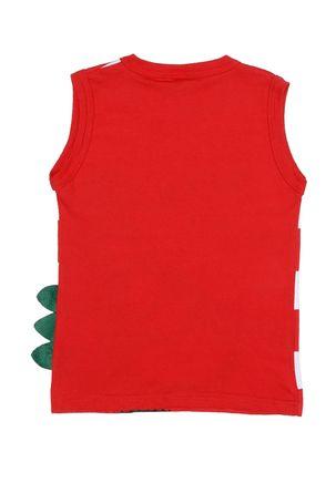 Camiseta-Regata-Infantil-Para-Menino---Vermelho-1