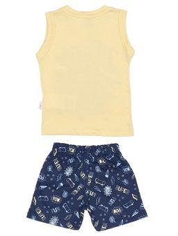 Conjunto-Infantil-Para-Bebe-Menino---Amarelo-azul-Marinho-M