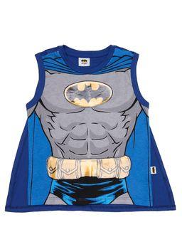 Camiseta-Regata-Batman-Infantil-Para-Menino---Cinza-azul-1