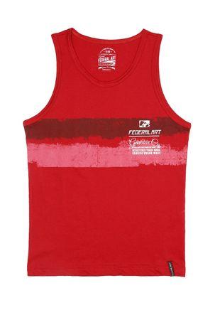 Camiseta-Regata-Federal-Art-Juvenil-para-Menino---Vermelho