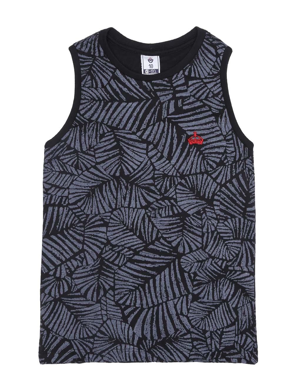 deeaeb4ab9971 Camiseta Regata Juvenil Para Menino - Preto - Lojas Pompeia