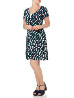 Vestido-Feminino-Verde-azul-Marinho-P