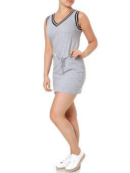 Vestido-Curto-Feminino-Autentique-Cinza