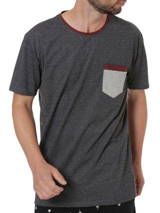 Camiseta-Manga-Curta-Masculina-Cinza-Escuro-P