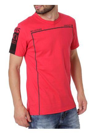 Camiseta-Manga-Curta-Alongada-Masculina-Vermelho-P