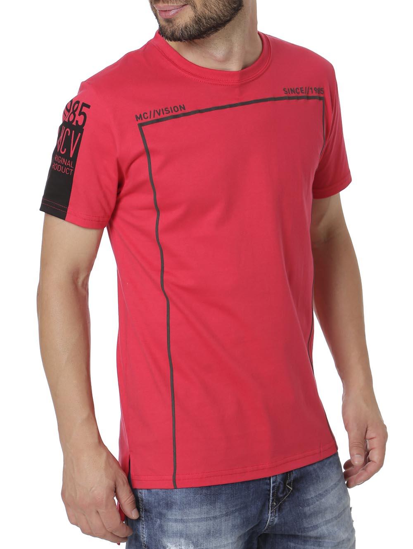 da026f211 Camiseta Manga Curta Alongada Masculina Vermelho - Lojas Pompeia