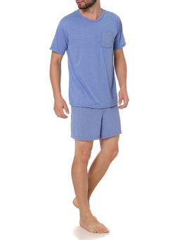 Pijama-Curto-Masculino-Azul-P