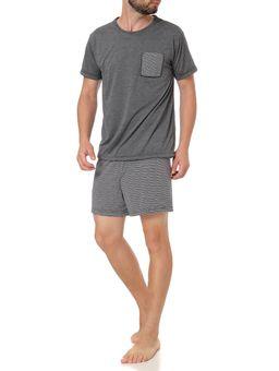 Pijama-Curto-Masculino-Cinza-P