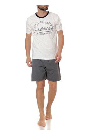 Pijama-Curto-Masculino-Off-White-cinza-P