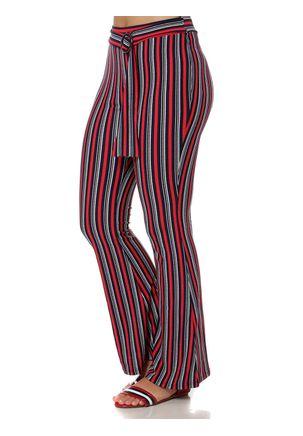 Calca-de-Tecido-Flare-Feminina-Vermelho-azul-Marinho-P
