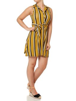 Vestido-Curto-Feminino-Autentique-Amarelo-preto
