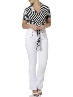 Camisa-Manga-Curta-Feminina-Preto-branco-P