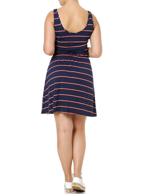 9afc5b30c Vestido Curto Feminino Rovitex Azul Marinho - Lojas Pompeia