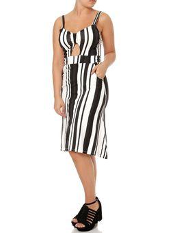 Vestido-Midi-Feminino-Preto-branco-P
