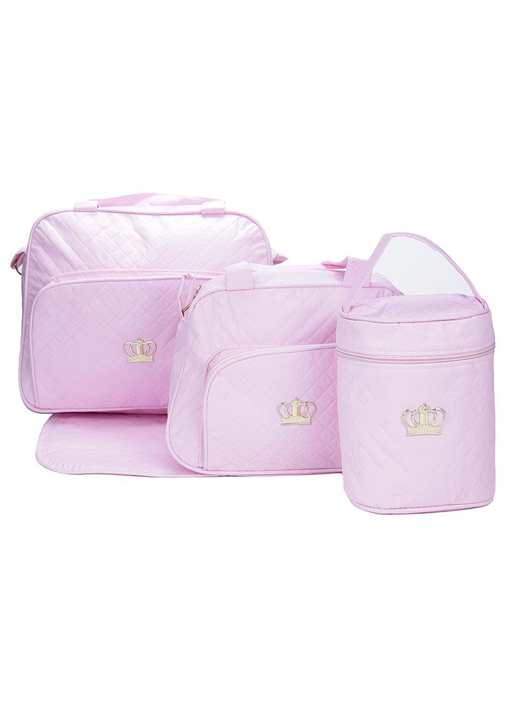 7021a5bcf4 Kit Bolsa Maternidade Rosa - Lojas Pompeia