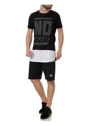 Camiseta-Manga-Curta-Alongada-Masculina-No-Stress-Preto-P