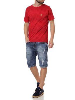 Camiseta-Manga-Curta-Masculina-No-Stress-Vermelho-P
