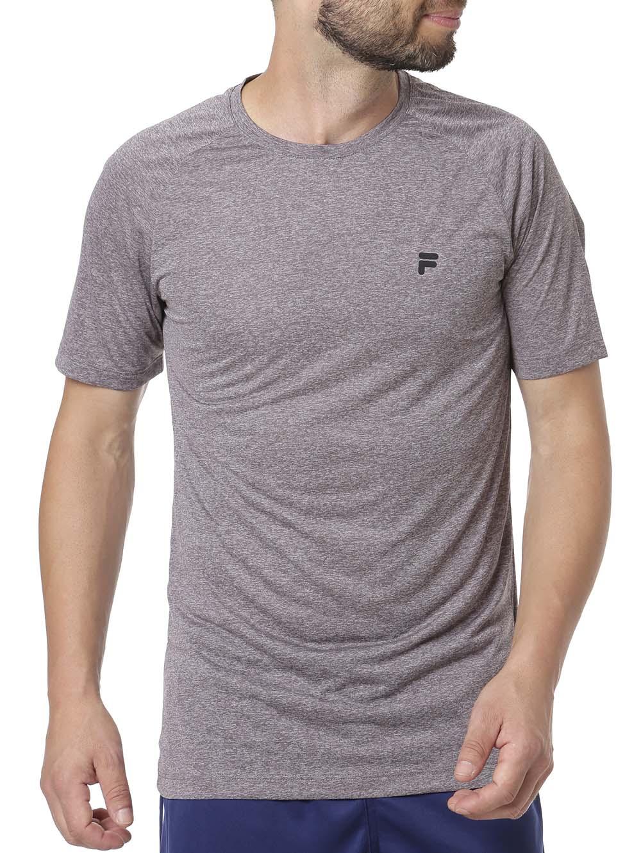 9ac9079e0 Camiseta Manga Curta Masculina Fila Cinza - Lojas Pompeia