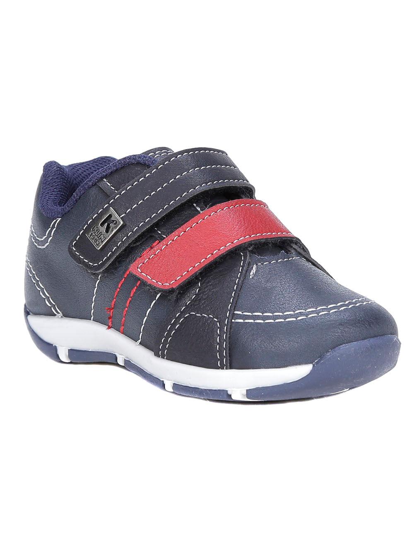 7a5a5ecf37 Sapato Klin Infantil Para Bebê Menino - Azul Marinho vermelho ...