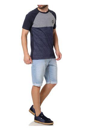 Camiseta-Slim-Fit-Manga-Curta-Masculina-Occy-Cinza-azul-Marinho