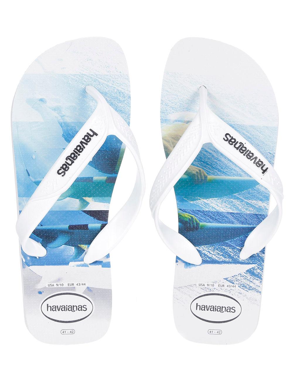 4bb715e67 Chinelo Masculino Havaianas Surf Branco/azul - Lojas Pompeia