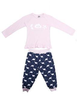 0f4a5d96e3 Pijama Longo Infantil Para Menina - Rosa marinho