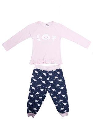Pijama-Longo-Infantil-Para-Menina---Rosa-marinho-1