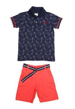 Conjunto Infantil Para Menino - Azul laranja 0ac660c975f73