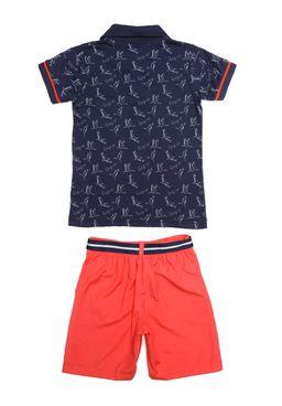 cf1221f259 Conjunto Infantil Para Menino - Azul laranja