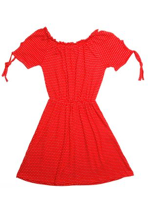 Vestido-Juvenil-para-Menina---Vermelho