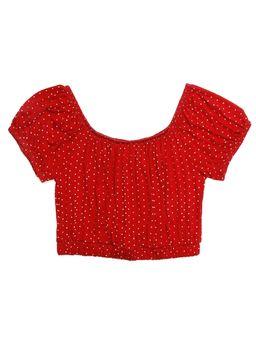 Blusa-Ciganinha-Manga-Curta-Juvenil-para-Menina---Vermelho