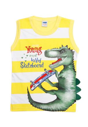 Camiseta-Regata-Infantil-Para-Menino---Amarelo-1