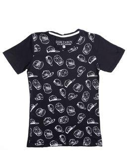 Camiseta-Manga-Curta-Juvenil-Para-Menino---Preto-16