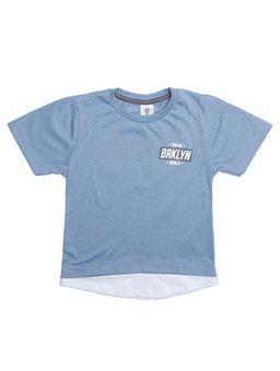 4d3c9ef3dd Camiseta Manga Curta Alongada Infantil Para Menino - Azul Claro