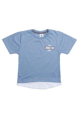 Camiseta-Manga-Curta-Alongada-Infantil-Para-Menino---Azul-Claro-6
