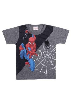Camiseta-Manga-Curta-Spider-Man-Infantil-Para-Menino---Cinza-1