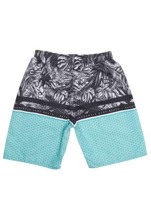 7e009da253 Bermuda Praia Infantil Para Menino - Preto verde