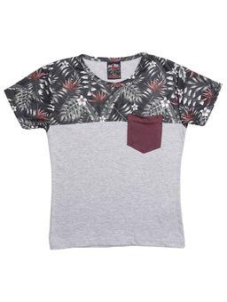 Camiseta-Manga-Curta-Infantil-Para-Menino---Cinza-verde-6