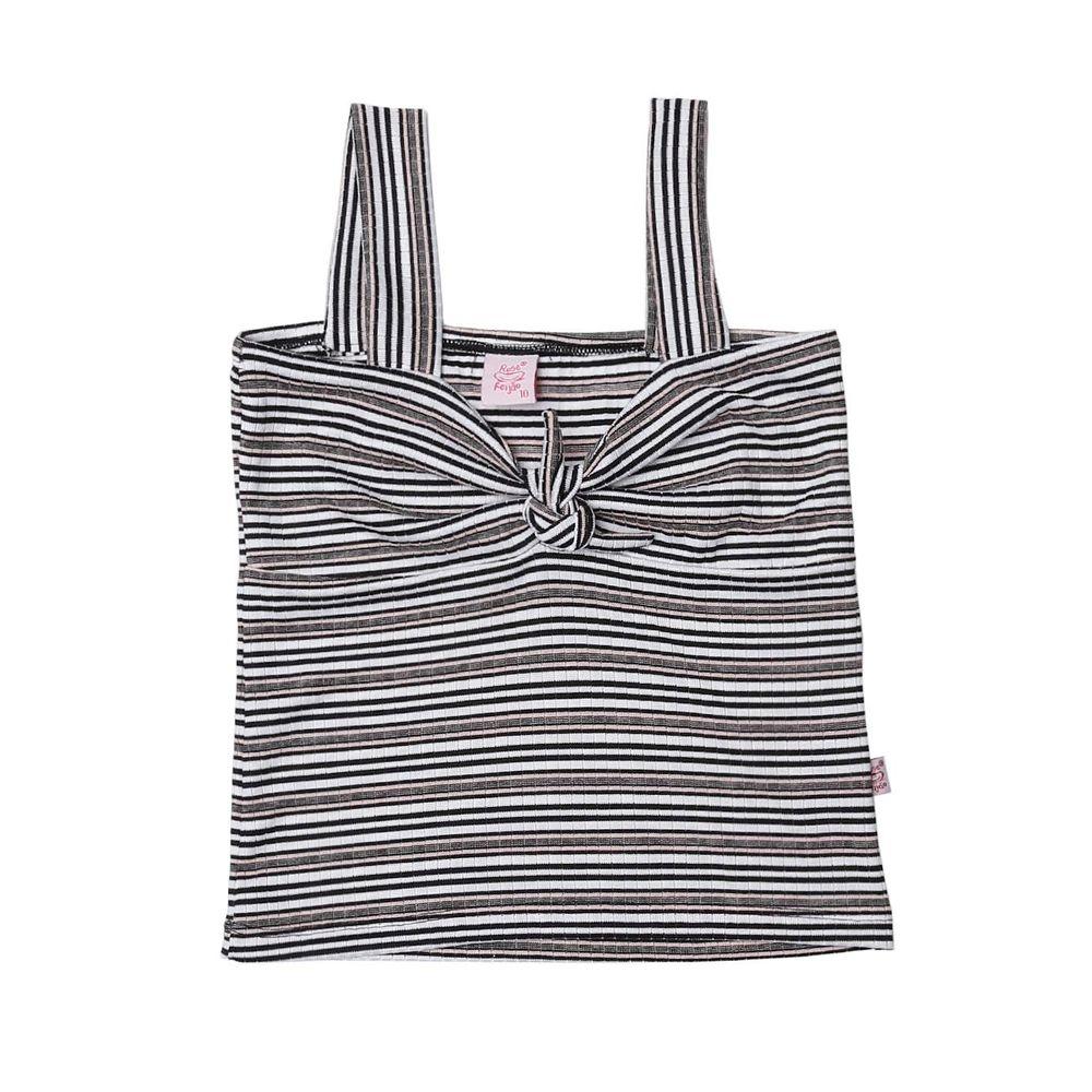 f6bdb1c766 Blusa Regata Juvenil Para Menina - Branco preto rosa - Lojas Pompeia