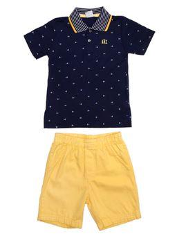 fe547b8c49 Conjunto Infantil Para Menino - Azul amarelo
