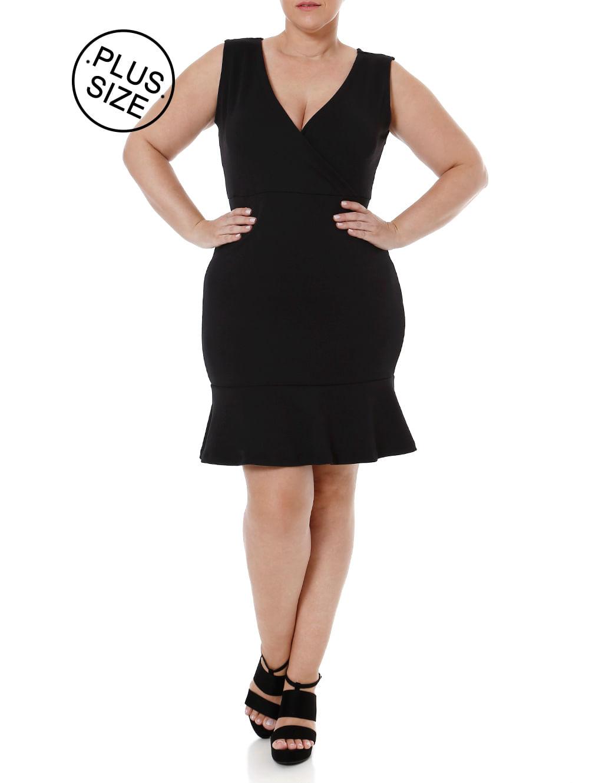 700126c0c4 Vestido Plus Size Feminino Preto - Lojas Pompeia