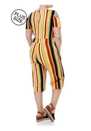 Macacao-Pantacourt-Plus-Size-Feminino-Amarelo