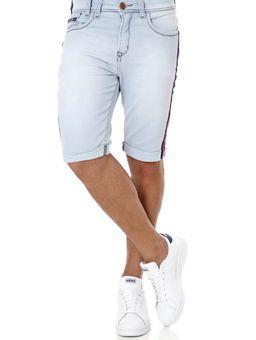 Bermuda-Slim-Jeans-Moletom-Masculina-Azul-Claro