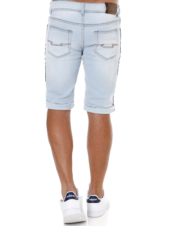 d64d8d231 Bermuda Slim Jeans Moletom Masculina Azul Claro - Lojas Pompeia