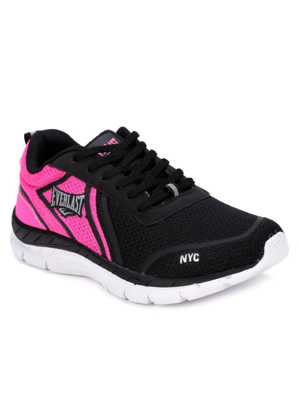 303455b9d086d Tênis Esportivo Feminino Preto pink - Lojas Pompeia