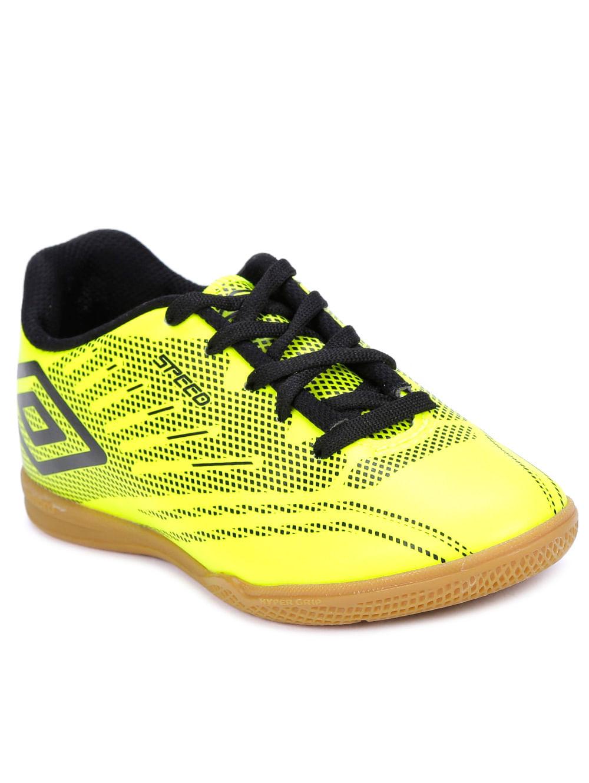 87a9a80c98 Tênis Futsal Umbro Speed IV Jr Infantil para menino - Verde preto ...