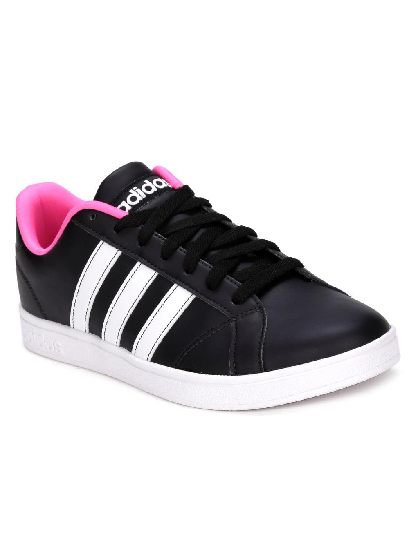 af832f85d Tênis Casual Feminino Adidas Vs Advantage W Preto/branco/rosa ...