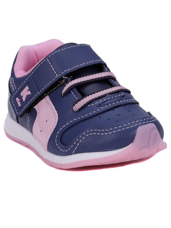 97c3b13761 Tênis Kidy Infantil Para Bebê Menina - Azul Marinho/rosa - Lojas Pompeia