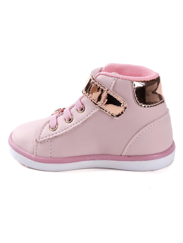 3e7697069f2 Tênis Cano Alto Infantil Para Bebê Menina - Rosa dourado - Lojas Pompeia