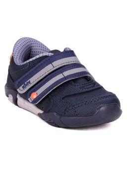 Tenis-Kidy-Infantil-Para-Bebe-Menino---Azul-Marinho-laranja